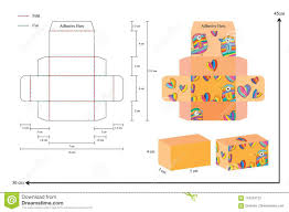 Box Design Template Illustrator 7cm 3cm 4cm Box Template Stock Vector Illustration Of