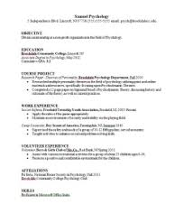 Psychology Resume Samples Psychologist Resume Psychology Resume