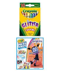 Crayola Vampirina Color Wonder Coloring Pad 16 Ct Glitter Crayons