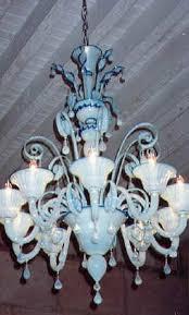 detail of opaline glass chandelier from murano italy in gulf coast italian styled dac art