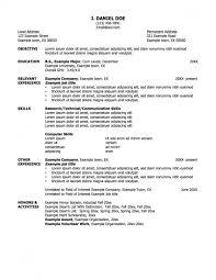 Cover Letter Standard Resume Example Standard Resume Objective Standard  Objective For Resume
