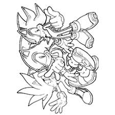 Sonic Coloring Pages Free Page Ayushseminarmahainfo