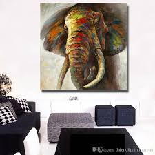 >2018 big size hand made elephant oil painting canvas wall art  2018 big size hand made elephant oil painting canvas wall art elephant wall decor