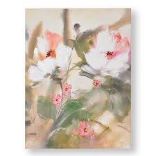 31 in x 24 in tropic blooms printed canvas wall art