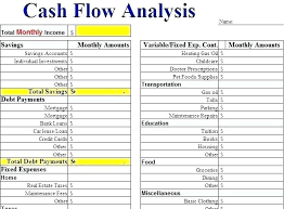 Simple Cash Flows Cash Flow Schedule Template Personal Monthly Statement Excel