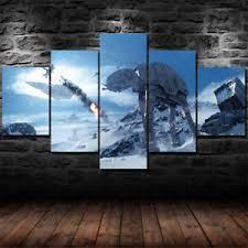 5 piece canvas prints.  Prints Image Is Loading StarWars5PieceCanvasWallArtPrints Intended 5 Piece Canvas Prints A