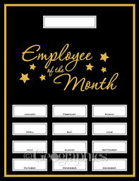 Employee Of The Month Template With Photo Employee Of The Month Poster Template Creative Advice
