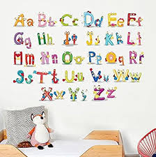 Kids Bedroom Wall Murals Interesting Amazon BINGNENG Cute Animal Alphabet Wall Decals Baby And