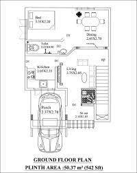 2 cent plot with 1000 square feet plan