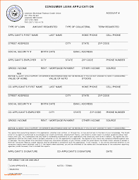Sample Credit Application Personal Credit Application Form Free