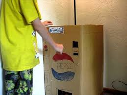Non Electric Vending Machine Adorable Homemade Cardboard Soda Pop Pepsi Vending Machine YouTube