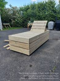 diy wooden pool lounger off 71