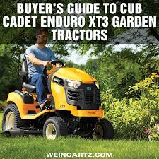 er s guide to cub cadet enduro xt3 garden tractors