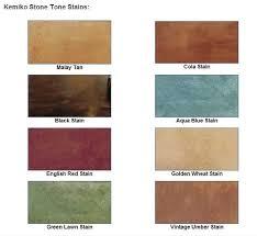 Concrete Stain Chart Concrete Stain Color Charts Craftsman Concrete Floors