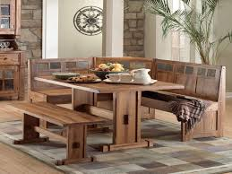 Dining Table Set With Bench Unique Rustic Small Breakfast Nook Table Set  And Chairs With