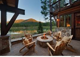 log cabin outdoor furniture patio. mountain outdoor patios and fire pits google search log cabin furniture patio