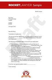 Sample Dismissal Letter Termination Of Employment Letter Within Notice Dismissal