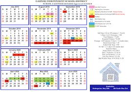 Calendar Garner Isd