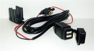 12v motorcycle din usb sockets charger leads plugs weatherproof twin usb socket charging lead