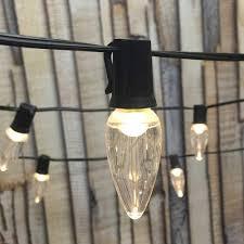100 Light Warm White C9 String Set Amazon Com Led String Lights 100 Ft Black C9 Led C9