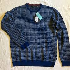 Ted Baker London Men S Size Chart Ted Baker London Men S Houndstooth Sweater L Nwt