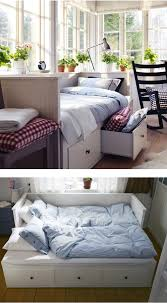Daybed with trundle for guest bedroom. Create a cozy sleeping nook for  company. Many of our daybeds can turn from a single to a double, and you  have a ...