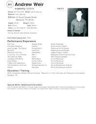 How To Make An Acting Resume For Beginners Resume Beginner Airexpresscarrier Com