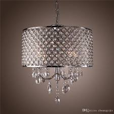 modern chandeliers with 4 lights pendant light with crystal drops in round ceiling light fixture cheap modern pendant lighting