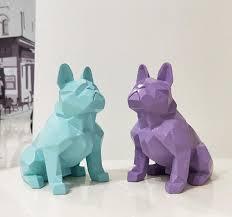 <b>Nordic abstract</b> geometric resin dog statue <b>modern minimalist</b> ...