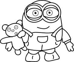 Minion Coloring Pages Bob At Getdrawingscom Free For Personal Use
