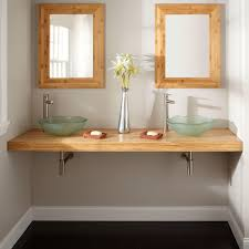 Bamboo Bathroom Sink 73 Bamboo Wall Mount Vanity Top For Vessel Sinks Bathroom