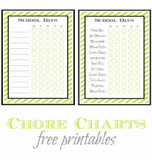 Back To School Chore List Free Printable A Helicopter Mom