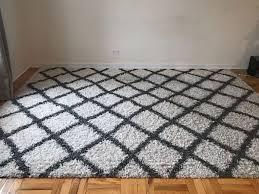 safavieh dallas ivory dark grey trellis rug 8 x 10