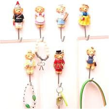 wall adhesive hooks sticky wall hooks cute cartoon decorative wall hook door sticky hangers strong adhesive