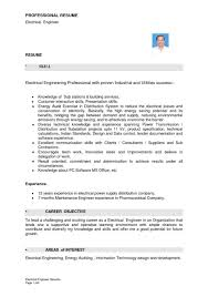 Ctrical Engineer Cv Meltemplates