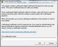Digital Certificate Obtain A Digital Certificate And Create A Digital Signature Office