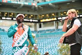 Floyd mayweather steps to logan paul during face to face at final press conference. Floyd Mayweather Vs Logan Paul Date Uk Fight Time And Undercard Mirror Online
