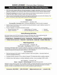 Resume Format Mechanical Engineer Fresher Lovely Student Internship