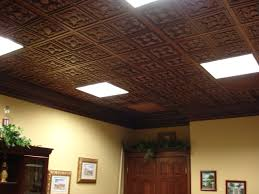 art painting design ideas with faux tin ceiling tiles plus ceiling lighting for modern bedroom and living room decor