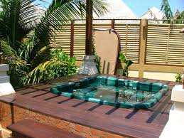 backyard jacuzzi ideas home and garden spa outdoor hot tub 6 deck tubs