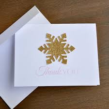 snowflake thank you cards snowflake thank you cards qty 10 made in 1 3 business days rose