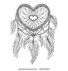 Native Dream Catchers Drawings Royaltyfree Hand drawn with ink magical dream 100 Stock 41