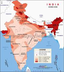 🌏 map of india, satellite view. Seismic Zoning Map Of India