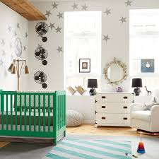 Image Cribs View In Gallery Modern Eclectic Nursery With Kelly Green Crib Decoist 17 Trendy Ideas For The Chic Modern Nursery