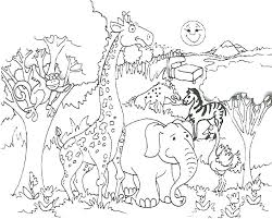 Zoo Coloring Pages Zoo Coloring Pages Animals Preschool Zoo Coloring