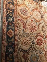 pottery barn eva rug 8x10 persian style tufted wool used
