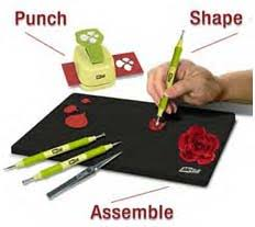 Flower Paper Punch Tool Paper Blossoms Punches And Tools Mcgill Paper Flower Punches