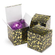 Foil Filigree Black And Gold Favor Boxes Invitations By Dawn
