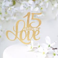 Years Of Love Wedding Anniversary Cake Topper Style 3 Sugar Crush Co