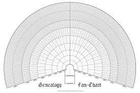 Lds Genealogy Fan Chart Free Ten Generation Ancestry Pedigree Fan Chart Blank Family